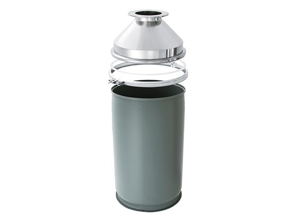 [HTL-FD / PD] discharge chute (for fiber drums, plastic drums)