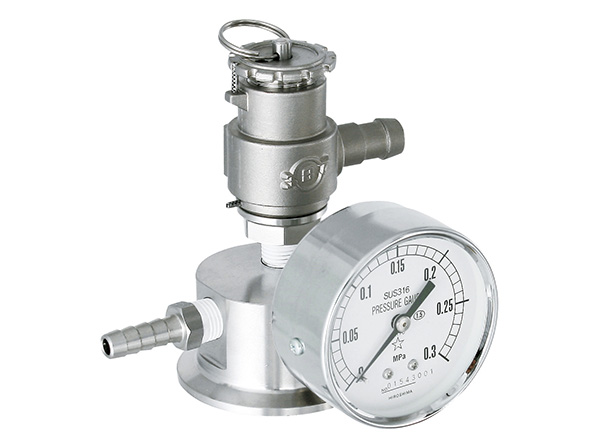 [PPS-P] Pressure Opening, Safety Valve, Pressure Gauge